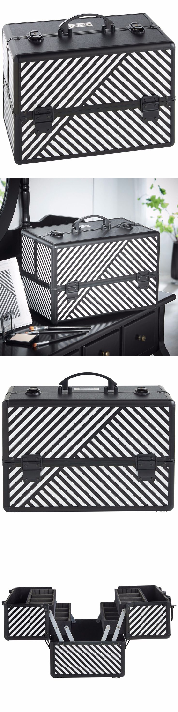 Makeup Bags and Cases: Beautify Large Black 14 Train Case Cosmetic Makeup Organizer Storage Box -> BUY IT NOW ONLY: $39.99 on eBay!