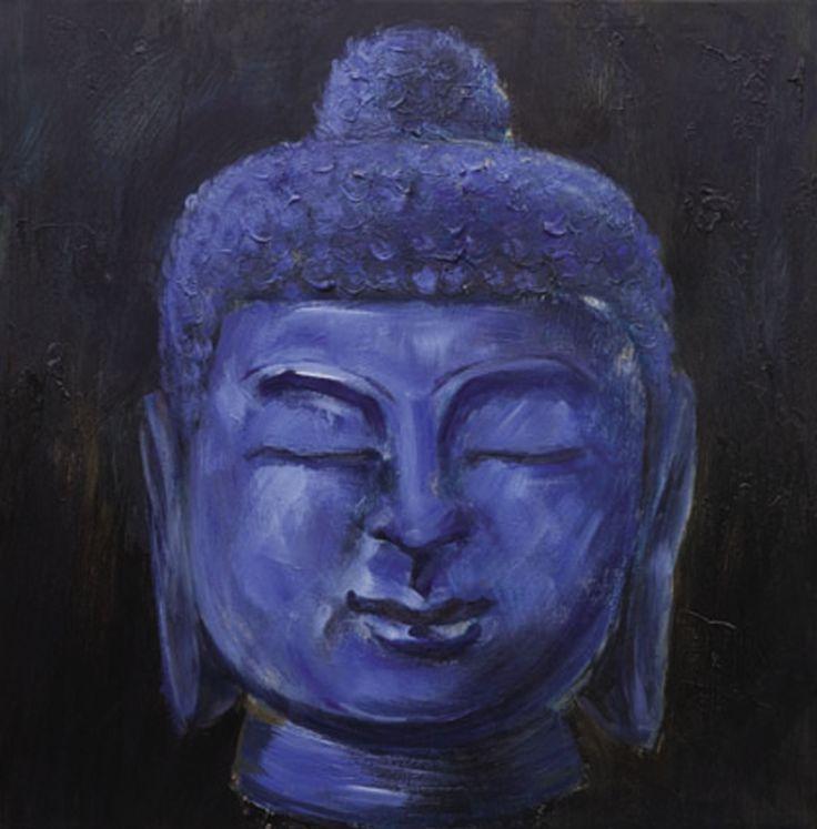 Buddha paars schilderij
