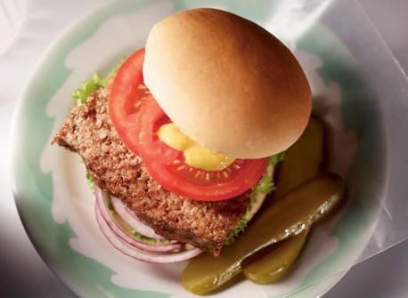 Double-Duty Meatloaf Burgers