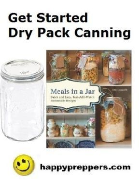 HAPPY to share with you Meals in a Jar by Julie Languille. This is a great way to get started DRY PACK CANNING.