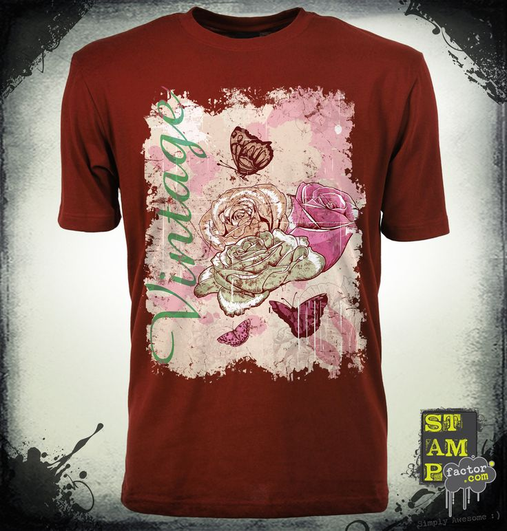 VINTAGE ROSES (Version 02) 2015 Collection - © stampfactor.com *T-SHIRT PREVIEW*