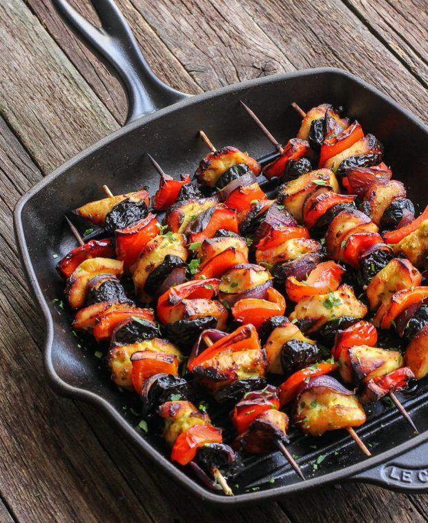 Kuřecí špízy se švestkami , Foto: kuchařka Jíme zdravě
