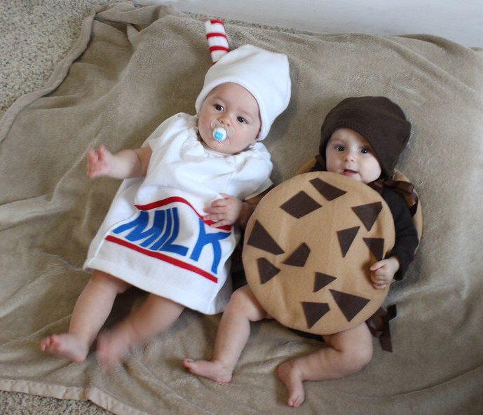 Baby Twin Costumes Milk Cookie Halloween Infant Toddler Newborn Halloween Costume Milk Carton by TheCostumeCafe on Etsy https://www.etsy.com/listing/156578984/baby-twin-costumes-milk-cookie-halloween