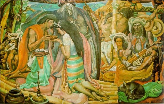 75 best images about carlos francisco jose blanco for Bonifacio mural painting