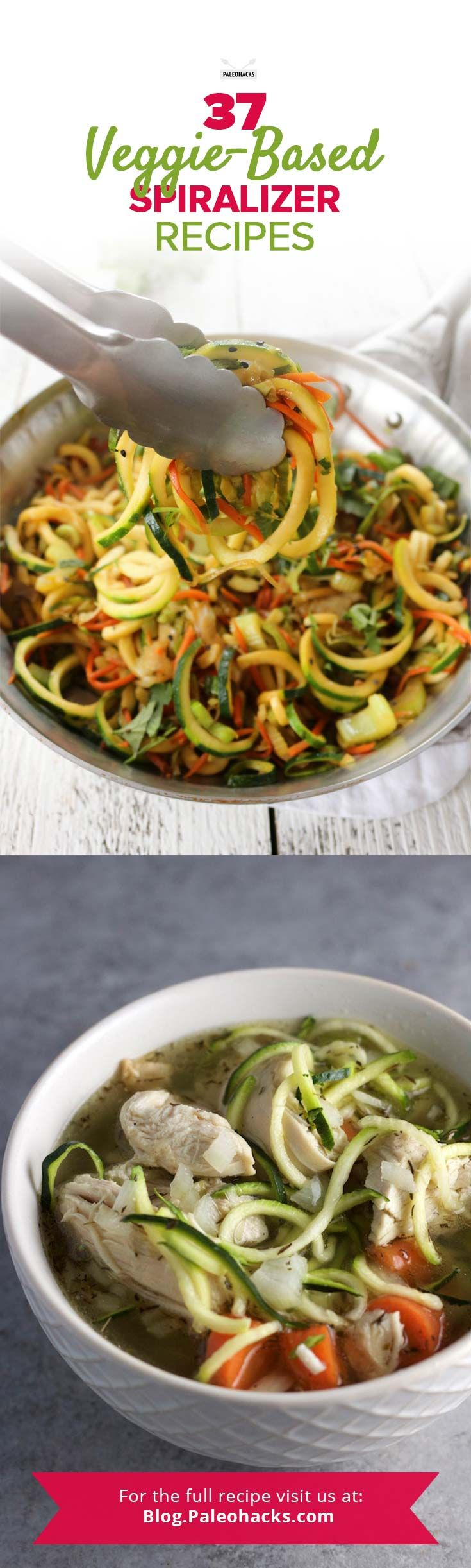 Who needs pasta when you can make super healthy #noodles out of your favorite veggies? Get all the recipes here: http://paleo.co/SpiralizerRcps