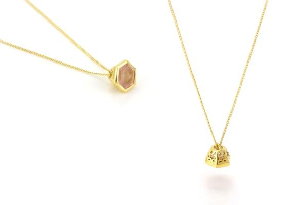 My favourite piece of jewellery at the moment...the Promise Gem Set Pendant in Gold vermeil & Rose Quartz...super pretty!