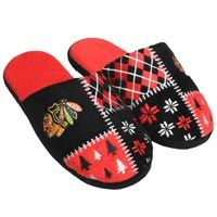 Chicago Blackhawks Men's Ugly Sweater Knit Slippers: The Chicago Blackhawks Men s Ugly… #nhl #nfl #mlb #nba #sportsjerseys #sportsapparel