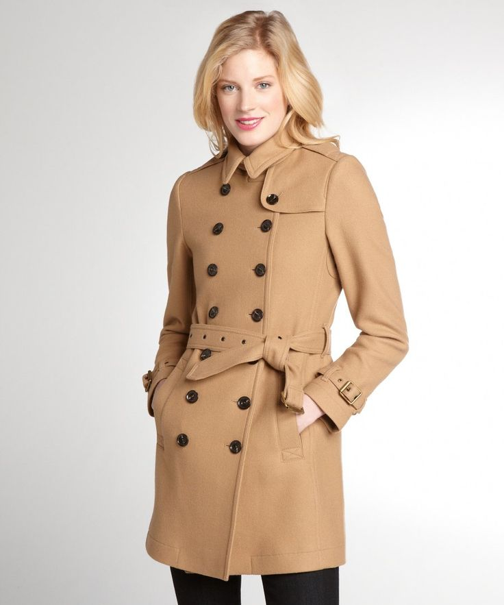 Perfect Womens Trench Coat : Women S Camel Wool Blend Trench Coat