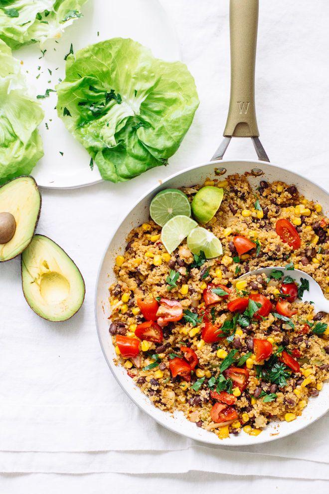Black Bean And Quinoa Taco Lettuce Wraps Healthy Vegan Taco Wraps Recipe Healthy Taco Recipes Lettuce Tacos Healthy Tacos