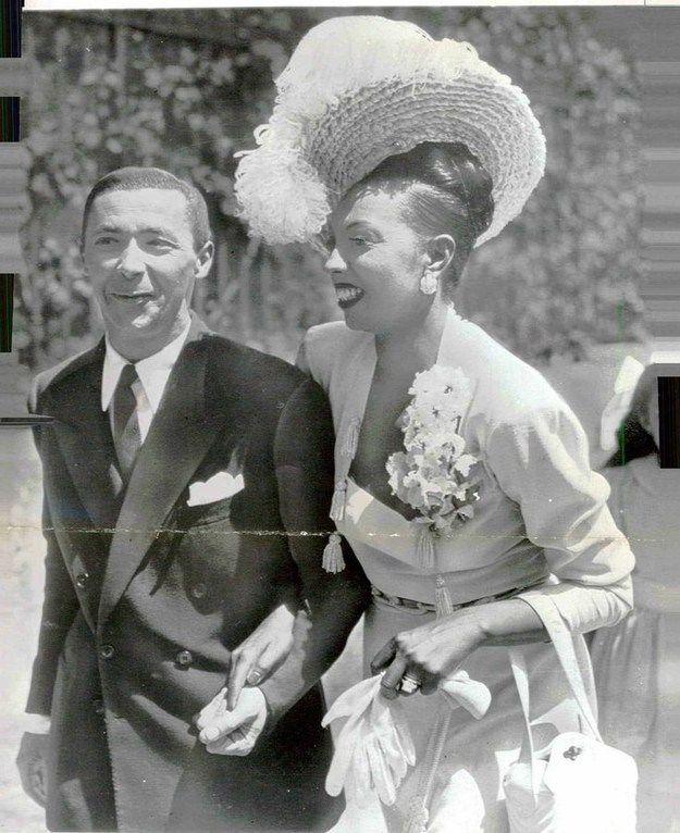 c9b5b2f1d2e3 Dancer Josephine Baker married orchestra leader Jo Bouillon in a simple  suit. 1947.
