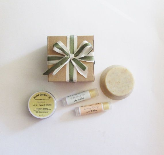 All Natural Gift Set  Solid Body Scrub 2 Lip by SecretGardenCK
