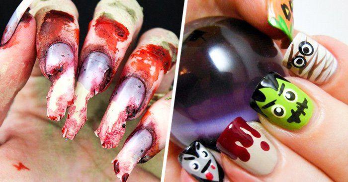 Diseños para lucir unas uñas espeluznantes este Halloween