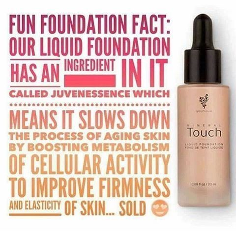 "Awesome Fact about Younique's Touch Mineral Liquid Foundation! Just another reason it's called ""Liquid Gold"" by so customers & presenters! #Younique #ClickImageToShop #Questions"