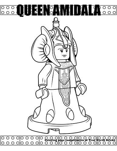 Coloring Page Queen Amidala Kolorowanki Coloring Pages Lego