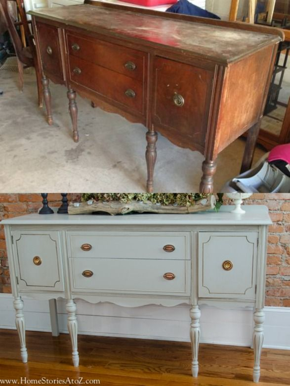 Great Instructions On How To Properly Paint A Vintage Piece!!! Painted  Vintage Buffet Part 54