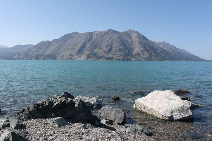 Beautiful scenery! Kluane Lake near Haines Junction, Yukon Territory, Canada. www.stratageodata.com