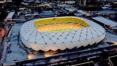 Jogo do Nacional contra o Remo na Arena da Amazônia.