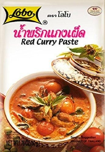 Thai Red Curry Paste (Kaang Ped), Thai Spicy Food, Lobo Cooking Food, 50g