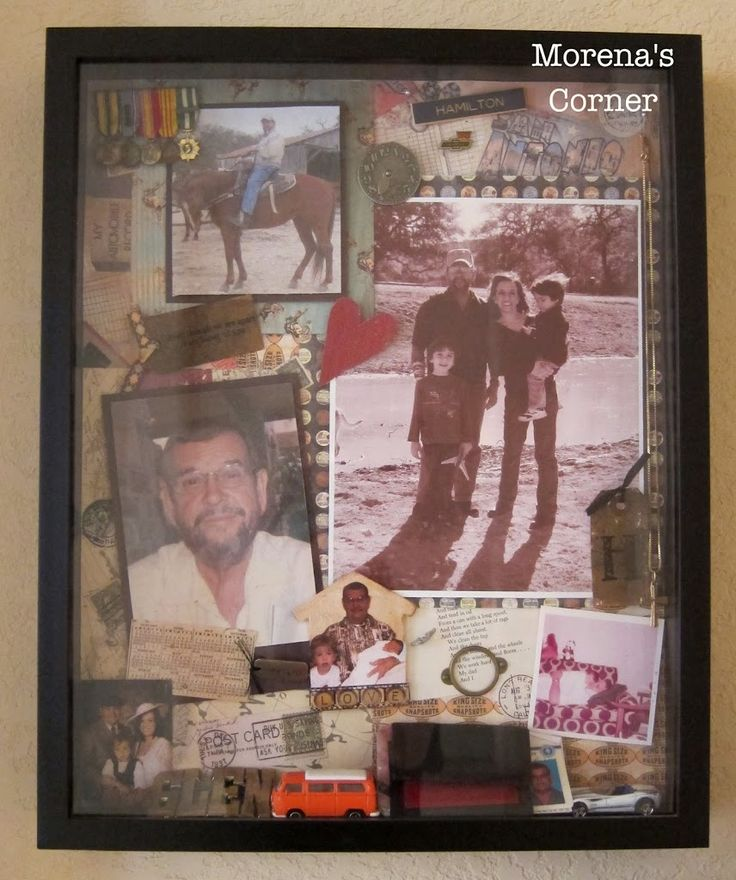 When a loved one passes away we often look for ways to honor that person's life and to keep their memory alive. A memorial shadow box is one way to preserve and display precious memories.