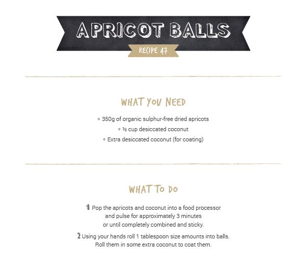 Apricot Balls - Organic Sisters