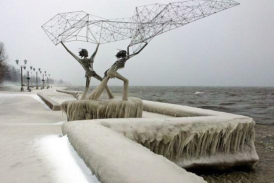 Petrozavodsk city, Russia winter scene