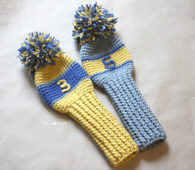 Repeat Crafter Me: Crochet Golf Club Cover Pattern Crochet Patterns Pinte...