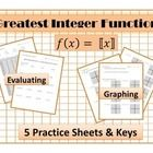 Practice Sheets for Graphing and Evaluating Includes 5 worksheet ...
