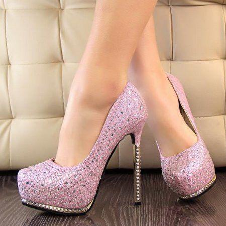Rhinestone High Heels Shoes    I would kill myself in these