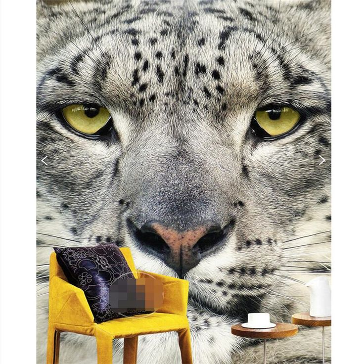 Home Decor wall paper 3d art mural HD tiger leopard animal  entrance covering Modern Wall Painting For Living Room wallpaper
