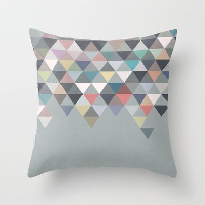 Nordic Combination 20 Throw Pillow by Mareike Böhmer Graphics - $20.00