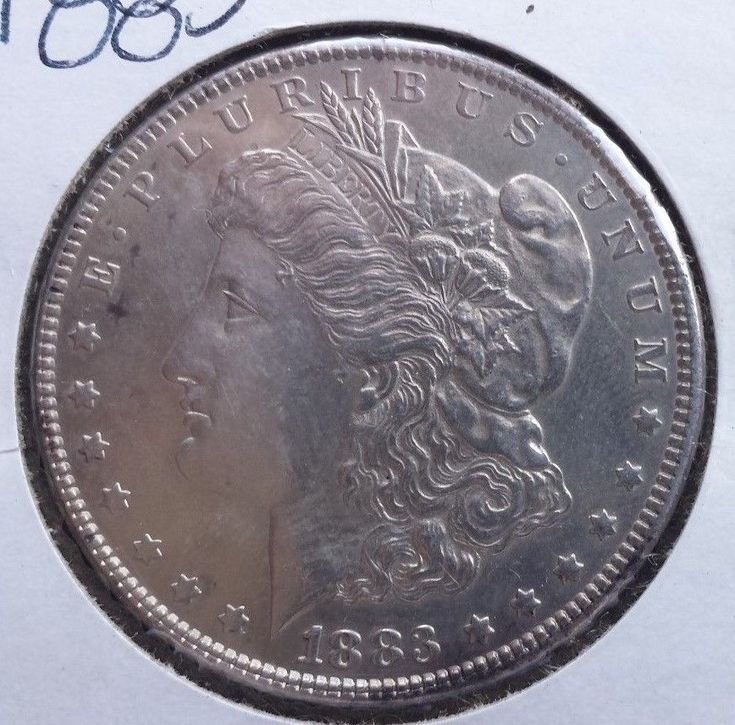 1883 $1 Morgan Silver Dollar Magnificent Constitutional Currency Coin Argent