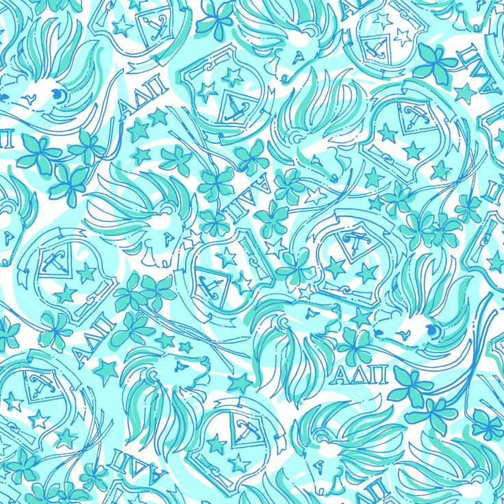 Lilly Pulitzer Wallpaper Shorely Blue Alpha Delta Pi