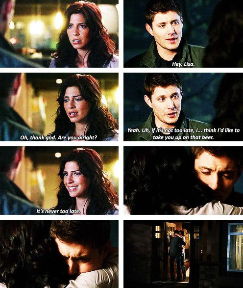 [gifset] 5x22 Swan Song #SPN #Dean #LisaBraeden I really liked Lisa and Dean together...