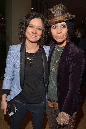 """Sara Gilbert made a big announcement on """"The Talk"""" today -- she recently became engaged to fiancée Linda Perry!  But the best part of it all was the incredibly romantic story behind the proposal from Perry, 47, which Gilbert, 38, shared on air Monday."""