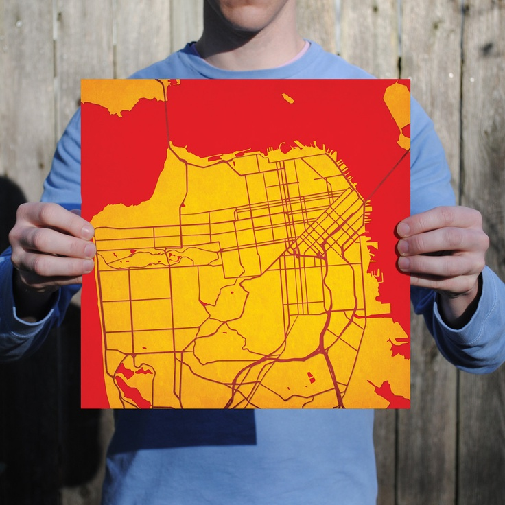 San Francisco California Print by City Prints