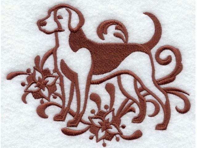 American Foxhound Towel Embroidered Dog Bathroom Decor Hand & Bathtowels