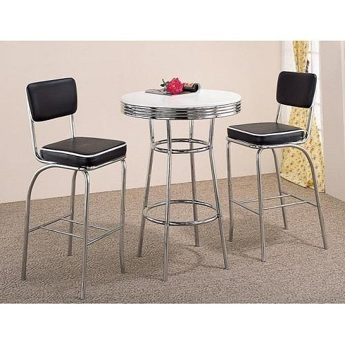 Found It At Wayfair   Red Cliff Retro Bar Table With Red Cushion Bar Stool  In Chrome Piece Set)