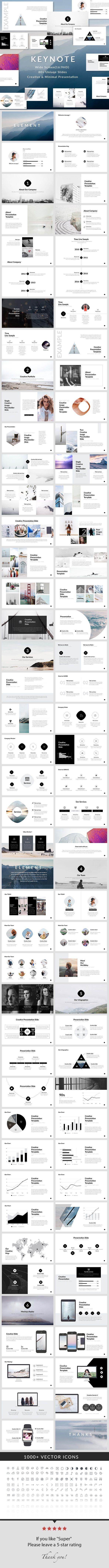 Element - Keynote Presentation Template
