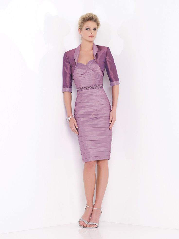 Social Occasions by Mon Cheri - 115852 - suit, strapless pleated  knee-length sheath