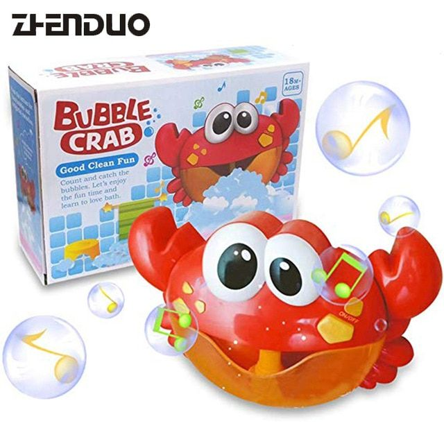 $8.55 ZhenDuo Toys Bath Toy Crab Bubble Machine Bathroom Bubble Maker Music Children Kid Baby – Classic Toys