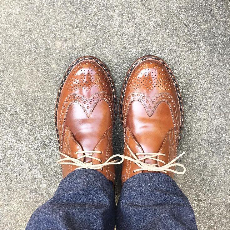 Heinrich Dinkelacker いい天気なので出かけます #heinrichdinkelacker #shoes #mensshoes #cordovan #whiskycordovan #sotd #shoesoftheday #ハインリッヒディンケラッカー #ハインリッヒディンケルアッカー #紳士靴 #革靴 #コードバン #ウィスキーコードバン