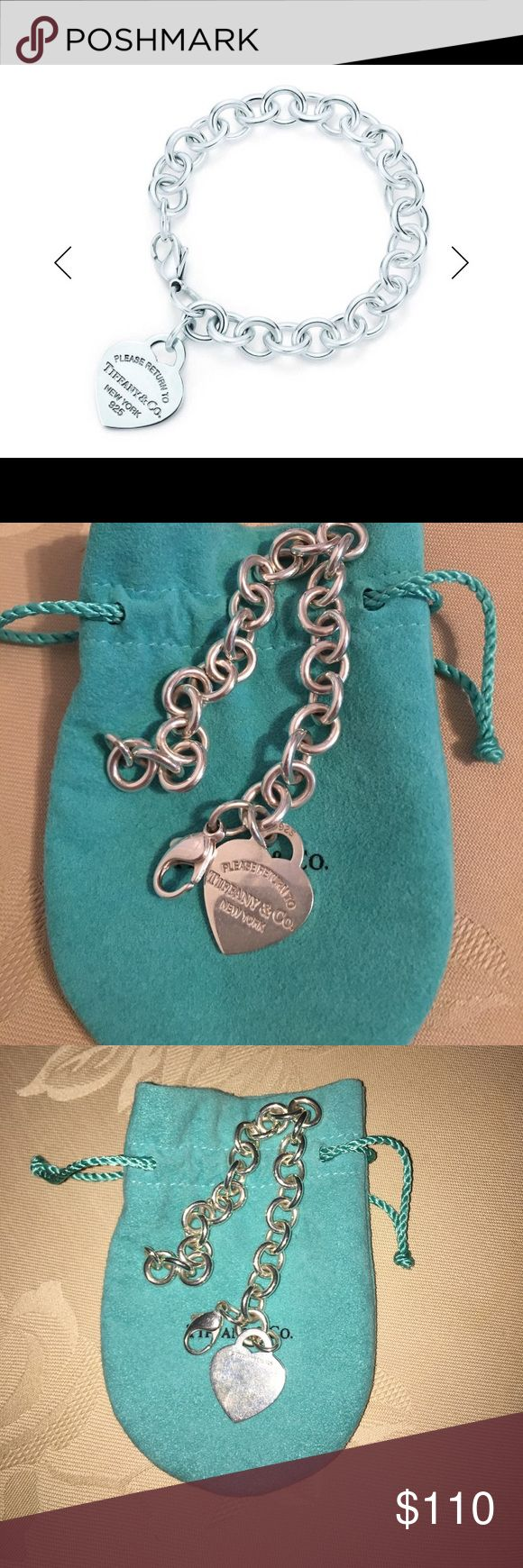 Return to Tiffany & Co. Heart Charm Bracelet AUTHENTIC. Return to Tiffany & Co. bracelet. A few scratches from being worn about 4 times, but nothing noticeable. Comes with authentic box and pouch! Please feel free to ask questions!! Tiffany & Co. Jewelry Bracelets