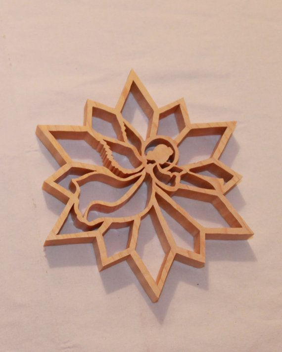 Scroll Saw Pattern: Angel Snowflake