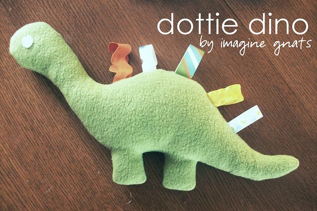 dottie dino stuffed animal tutorial and pattern by imaginegnats