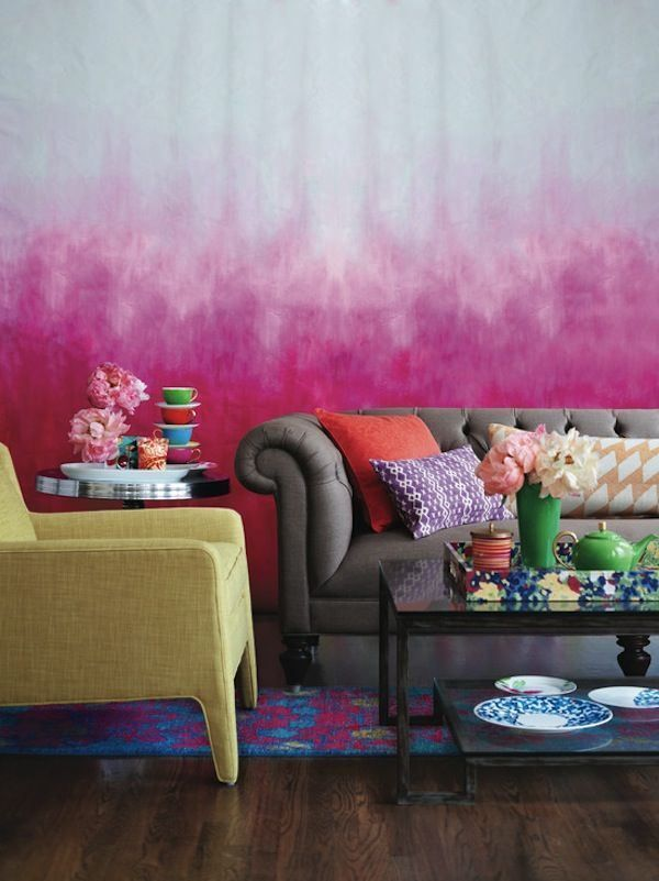 Deep pink ombre