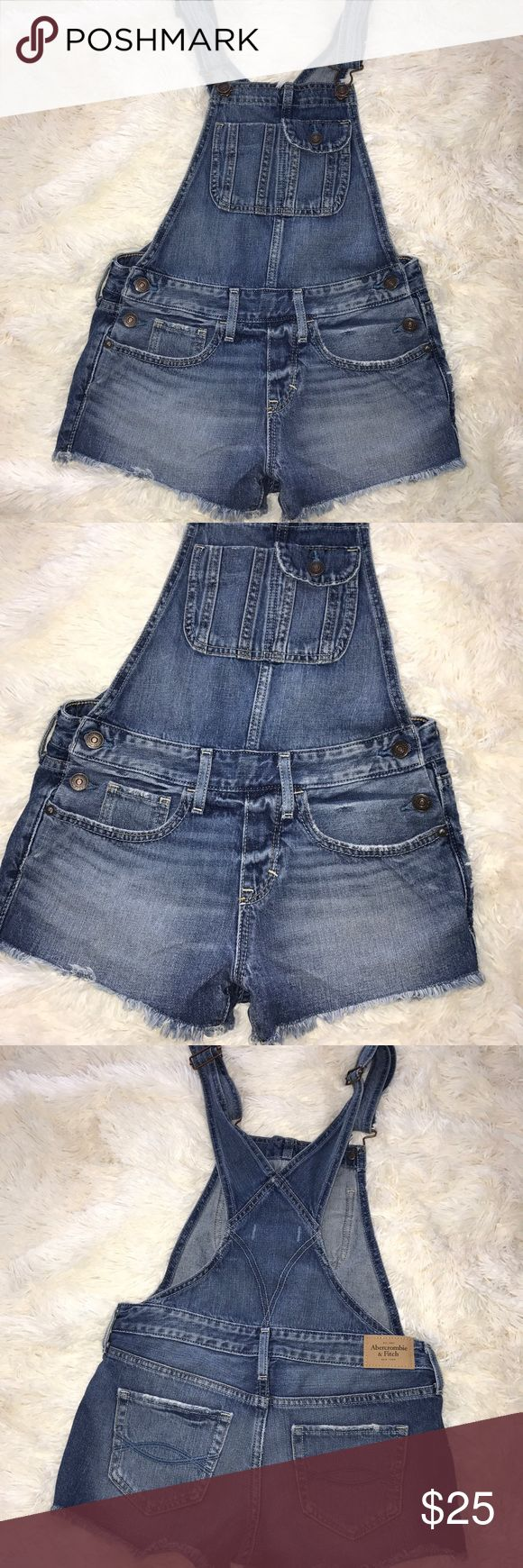 Abercrombie & fitch Denim Overalls No stains or rips Abercrombie & Fitch Shorts
