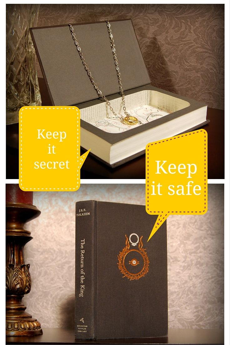 Keep it secret, keep it safe... The Lord of the Rings: The Fellowship of the Ring by J.R.R. Tolkien Secret Safe Book features: - Magnetic closure so your secrets will stay secret (even when your book