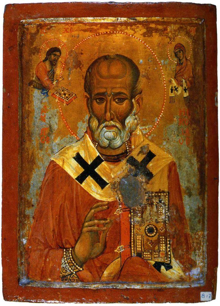 """Никола"""", 13 века. монастырь св. Екатерины на Синае (из мастерской, обслуживающей крестоносцев"""