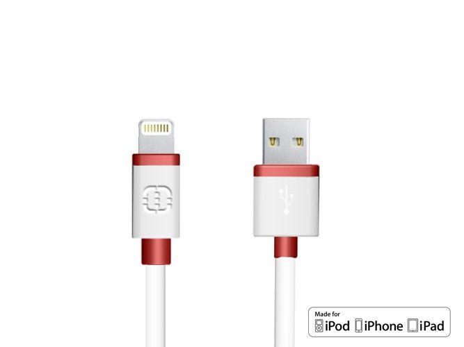 Walnut Lightning kabel iPhone 5/5S/6/6 Plus & iPad Air MFI Rood