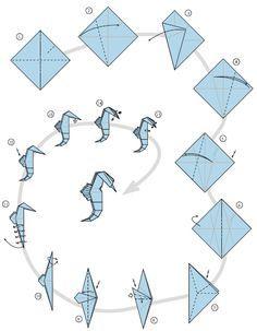 Origami - Seahorse
